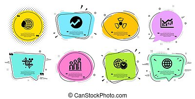 World water, Financial diagram and Time management icons set. Globe, Graph chart and Audit signs. Vector
