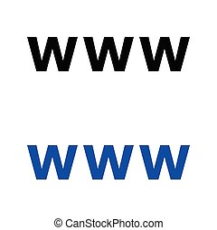 world wide web, icono