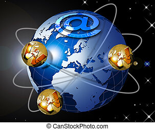 World wide web - Illustration symbol www and internet with...
