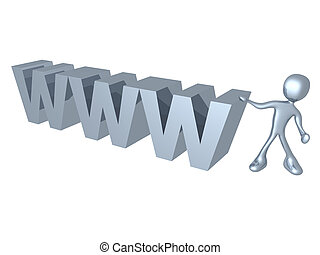 World Wide Web - Computer generated image - World Wide Web.