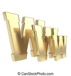 world wide web, www, carta, símbolo, aislado