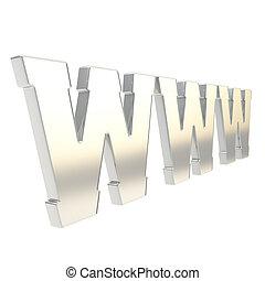 world wide web, www, carta, símbolo, es