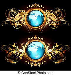 world with ornate elements