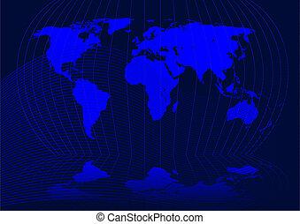 Worldmap - Abstract vector illustration of the world