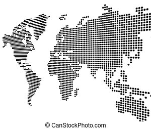 Worldmap white - World map - black points on white...