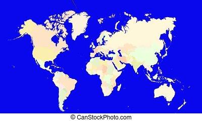 Worldmap Zooms to Denmark
