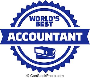 Worlds best Accountant button