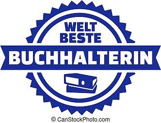 Worlds best Accountant. German female button