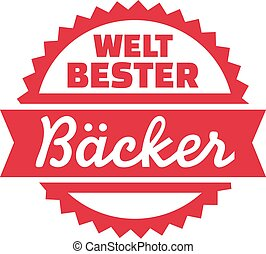 World's best Baker german