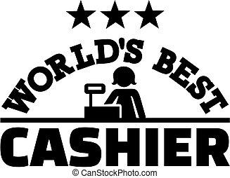 World's best Cashier with stars