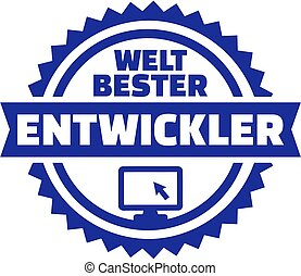 World's best Developer german