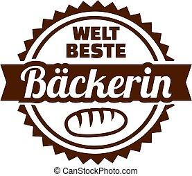 Worlds best female Baker german