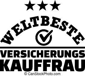Worlds best female insurance broker german