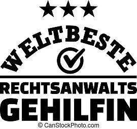 Worlds best female paralegal german