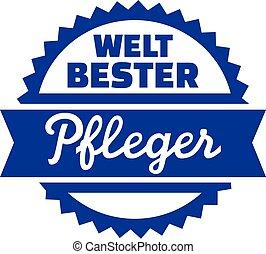 World's best geriatric nurse - german