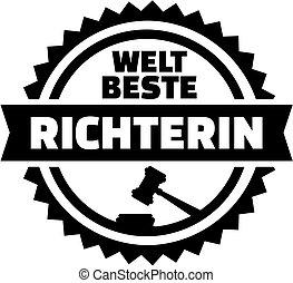 World's best judge german stamp