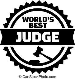 World's best judge stamp