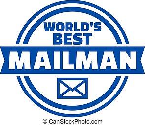 World's best Mailman button