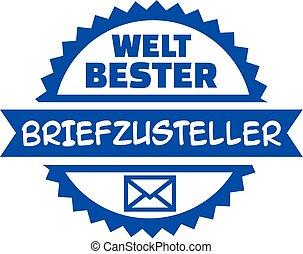 World's best Mailman german button
