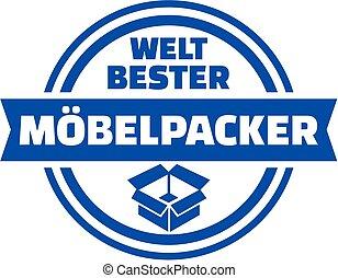 World's best mover german button