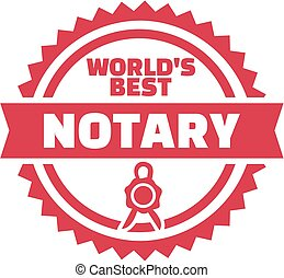 World's best notary button