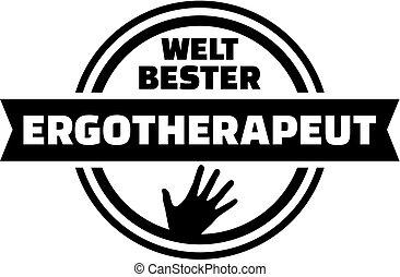 World's best Occupational therapist. german button.
