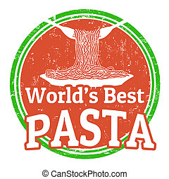 world's best pasta stamp