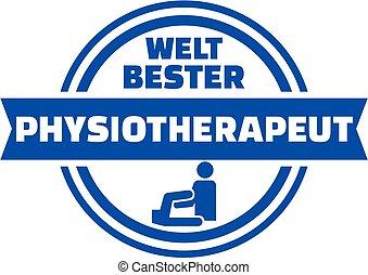 World's best Physiotherapist german button