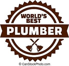 World's best Plumber emblem