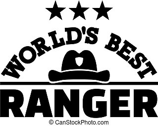 World's best Ranger with hat