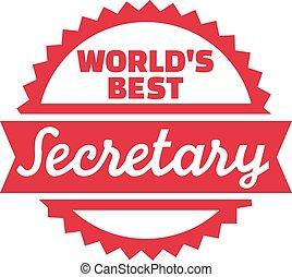 World's best Secretary stamp