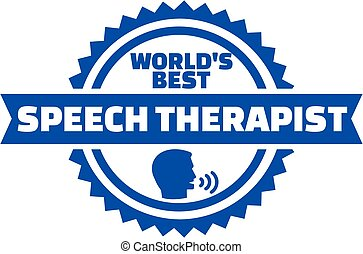World's best Speech therapist button