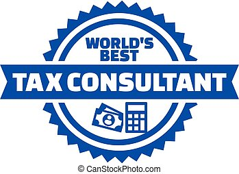 World's best Tax consultant button