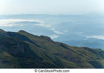 World's End in Horton Plains National Park, Ceylon, Asia,...