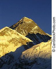 World's heighest mountain, Mt Everest (8850m) and Nuptse to...
