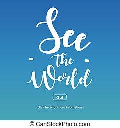 world.travel, concept., sehen, abenteuer