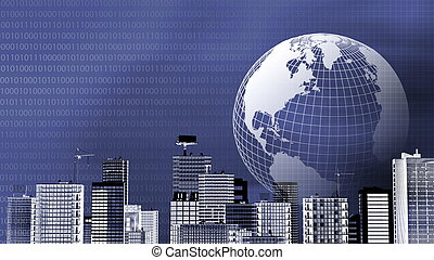 Worldwide Business Background - A concept of worldwide...