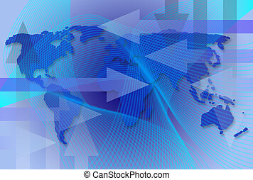 Worldwide Business Map - Worldwide business map with arrows ...