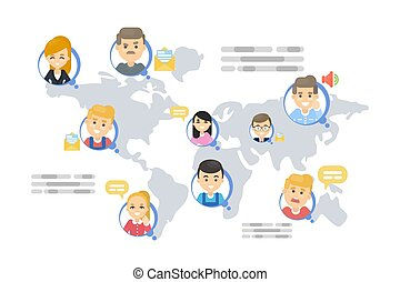 Worldwide communication concept.