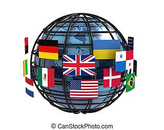 Worldwide communication concept