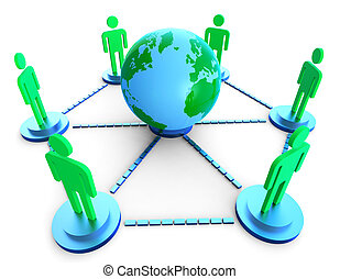 Worldwide Communication Shows Computer Network And Chatting