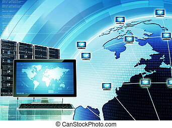 Worldwide computer network - A concept of how computer...
