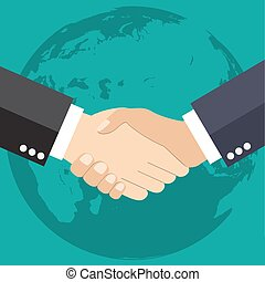 Worldwide cooperation concept
