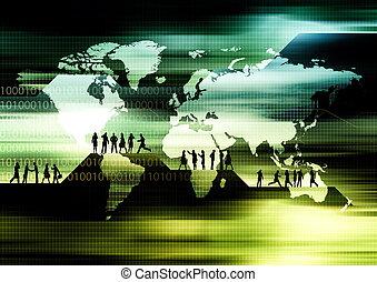 Worldwide E-business - Concept of Global business activities...