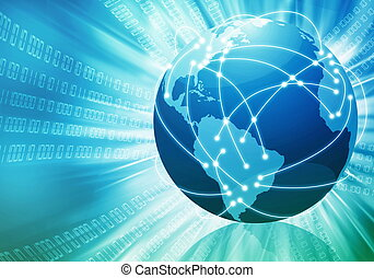 Worldwide internet Concept - Conceptual image of global...