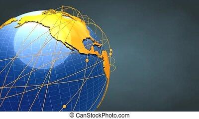 Worldwide network - Concept animation, Worldwide network.