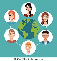 worldwide people communication social media