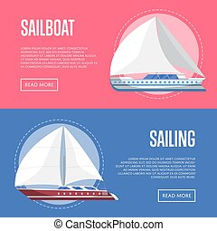 Worldwide sailing flyers with sailboats