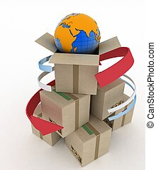 Worldwide shipping concept.