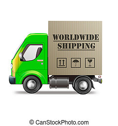 worldwide shipping of online internet order from web shop in...